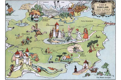 Map of Fairyland | Storybook Classics Art Prints ...