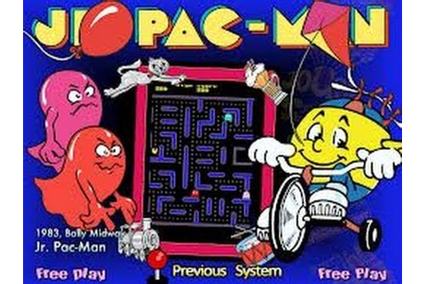 Jr. Pac-Man (Arcade) - Game Play - YouTube
