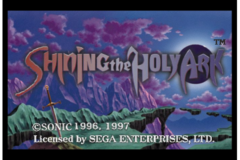 Shining the Holy Ark (1996) by Climax Saturn game