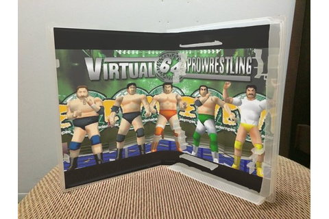 Virtual Pro Wrestling 64 N64 video game case | Game Case ...