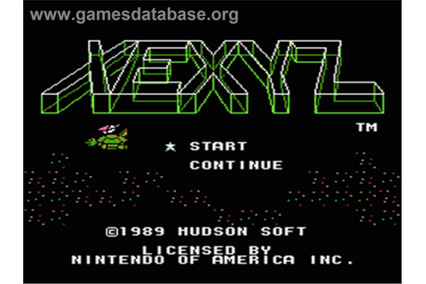 Xexyz - Nintendo NES - Games Database