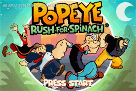 Popeye: Rush for Spinach - Nintendo Game Boy Advance ...