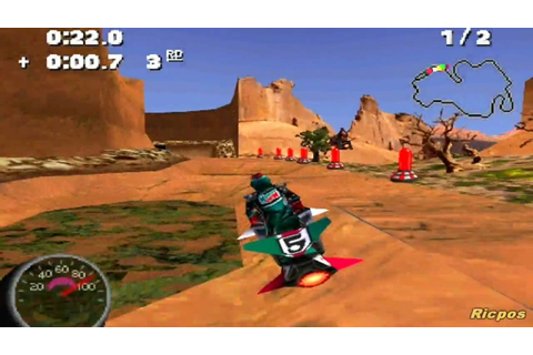 PS1 - Jet Moto 2 - Gameplay - YouTube