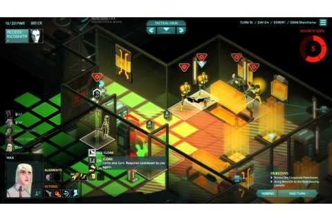 Invisible, Inc. | Any Key To Start: critiquing game interfaces