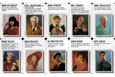 cluedo characters names - Google Search | safo | Pinterest ...