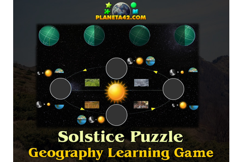 Solstice and Equinox Online Puzzle | Geography Learning Game