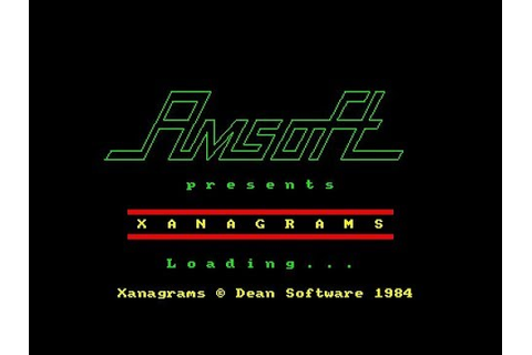Xanagrams Review for the Amstrad CPC by John Gage - YouTube