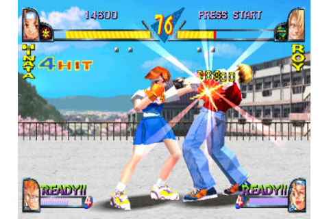 Rival Schools: United By Fate (1998) by Capcom PS game