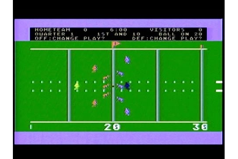 Atari 5200: RealSports Football [Atari] - YouTube