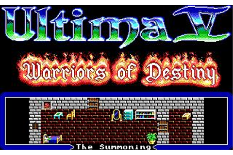 Ultima 5: Warriors of Destiny Download (1988 Role playing ...