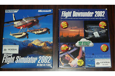 PC Game. Flight Simulator 2002 & Flight Downunder 2002 | eBay