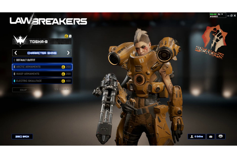 Lawbreakers Skin Showcase (Closed Beta) - YouTube