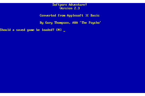 Softporn Adventure (1991) MS-DOS game