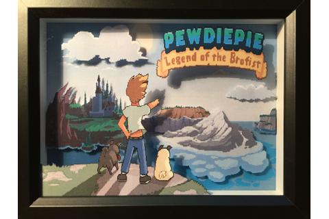 Pewdiepie Legend of the Brofist Diorama | 3D Paper ...
