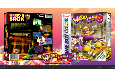 Wario Land 3 Game Boy Color Box Art Cover by Ervo
