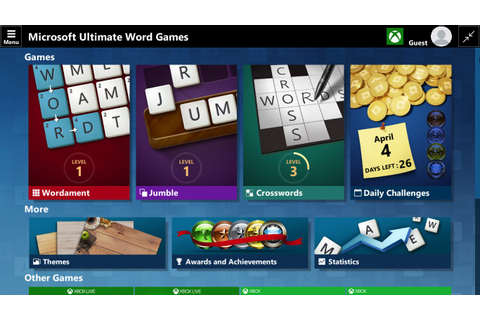 Microsoft Ultimate Word Games now available on Windows 10 ...