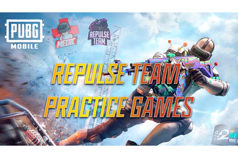 REPULSE PRACTICE GAMES | PUBG MOBILE MEDIC - YouTube