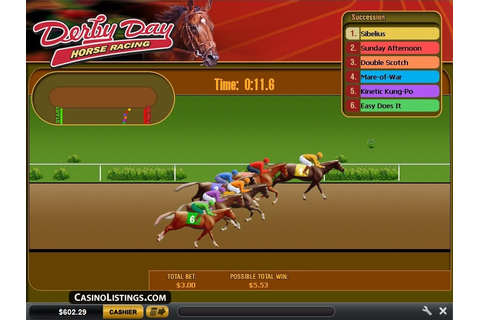 Free Derby Day Horse Racing game | Casino Listings