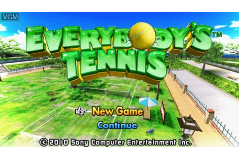 Everybody's Tennis for Sony PSP - The Video Games Museum