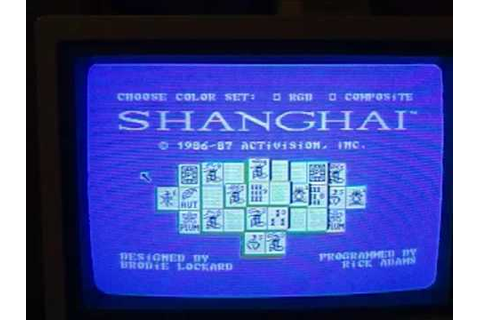 Shanghai video game for the Color Computer 3 Alternate ...