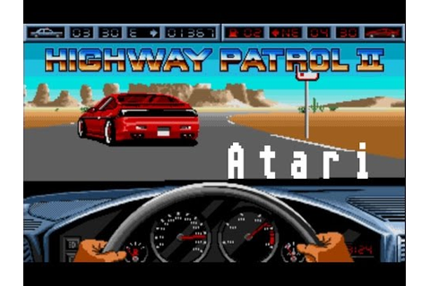 Highway Patrol 2 - Atari ST (1989) - YouTube