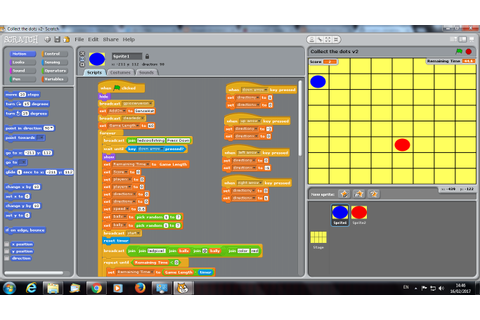 Collect the Dots game using the SenseHAT and Scratch on a ...