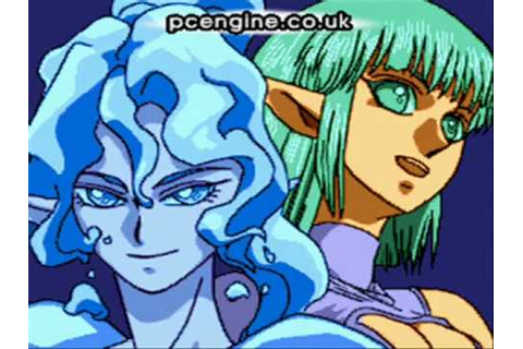 PC Engine Visual Scenes: Princess Minerva opening - YouTube