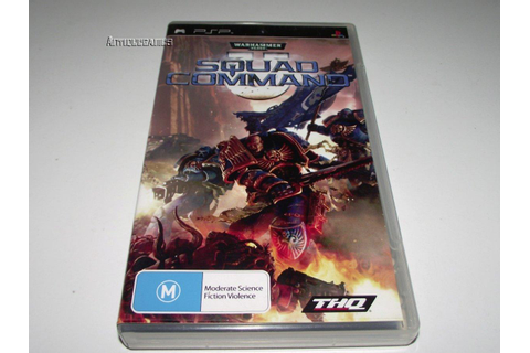 Warhammer 40,000 Squad Command Sony PSP Game *No Manual*