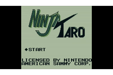 Ninja Taro (Game Boy) - YouTube