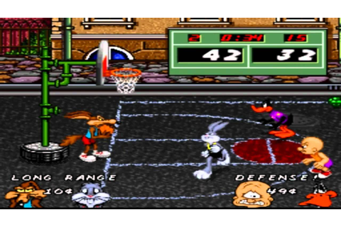 SNES - Looney Toons Basketball - Hard. - YouTube