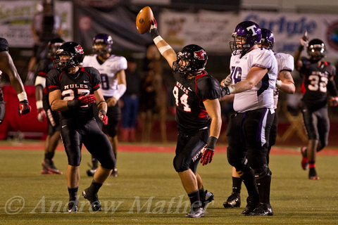 Mules Football Game 9/20/2012 | Andrew Mather Sports ...
