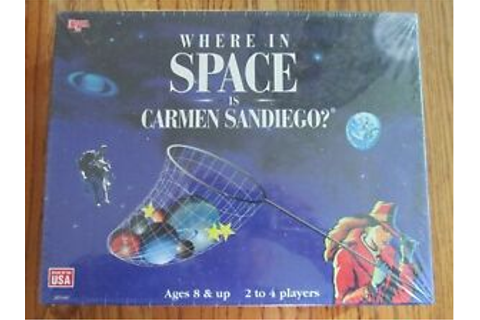 """WHERE IN SPACE IS CARMEN SANDIEGO?"" 1995 NEW SEALED BOARD ..."