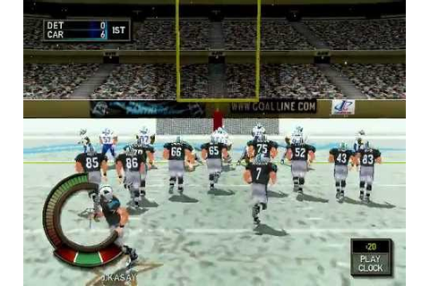 Madden NFL 2000 (PC) - Panthers vs. Lions - YouTube