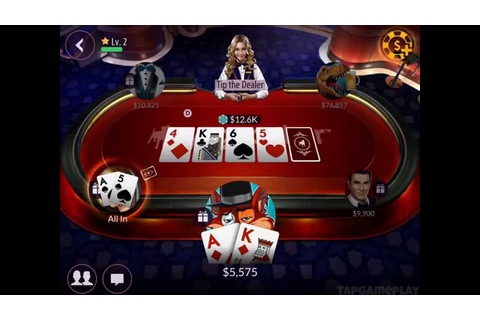 Zynga Poker: Texas Holdem - Gameplay (iOS, Android) - YouTube