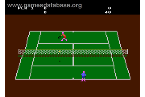 RealSports Tennis - Atari 8-bit - Games Database