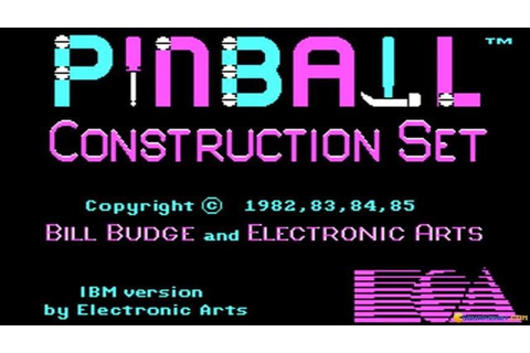 Pinball Construction Set gameplay (PC Game, 1985) - YouTube