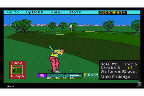 PGA Tour Golf (1991) Sega Genesis Gameplay HD - YouTube