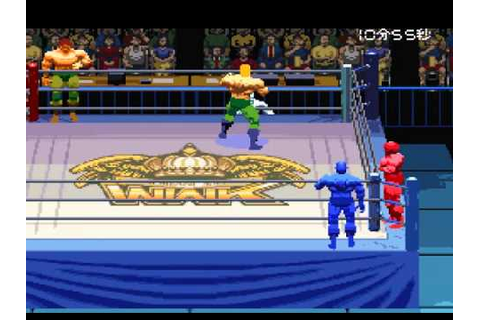 SNES Jikkyou Power Pro Wrestling '96: Max Voltage - YouTube