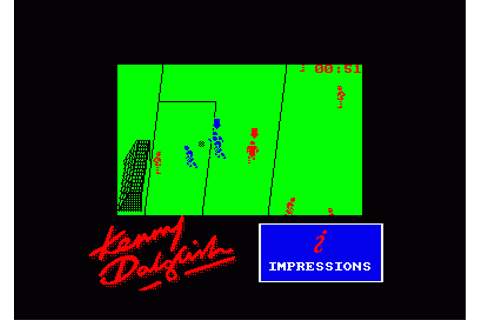 Kenny Dalglish Soccer Match (Game Screen)