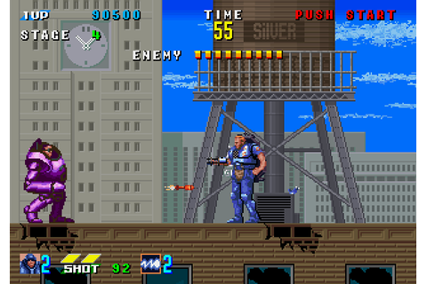 E-Swat: Cyber Police (1989) Arcade game