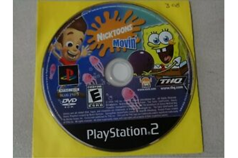 Nicktoons Movin' Sony Playstation 2 PS2 Game Disc Only ...