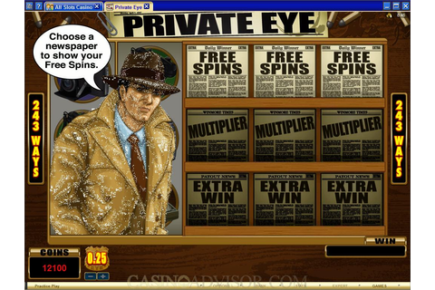 Microgaming Private Eye Video Slot Game Review