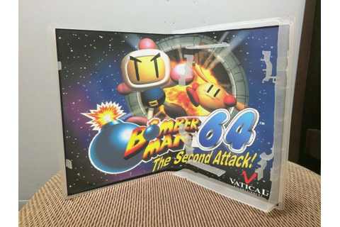 Bomberman 64: The Second Attack N64 video game case | Game ...
