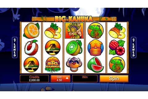 Big Kahuna Slot Review 2020 – Win 8,000x Your Payline Bet!