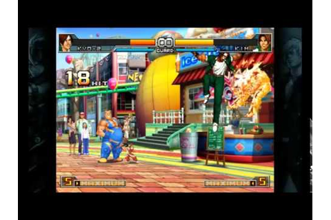The king of fighters 2002 UM Steam Combos Kyo-2 - YouTube