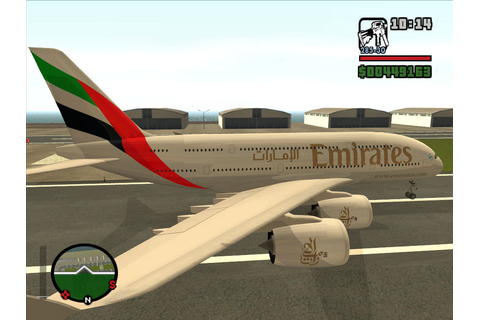 The GTA Place - Emirates Airlines Skin For Airbus A380-800
