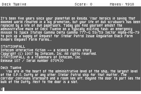 Stationfall Download (1987 Adventure Game)