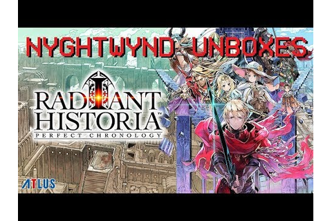 Radiant Historia - Video Game Unboxing - YouTube