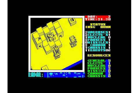 Nether Earth for ZX Spectrum - YouTube