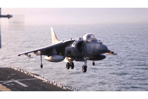 AV-8B Harrier Jump Jet In Action! Vertical Landing and ...